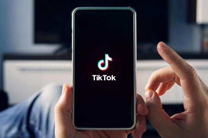 user scrolling through TikTok on phone