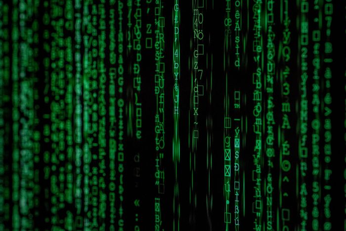 bunch of random numbers, like those hacking screens on tv